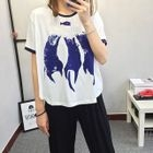 Cat Print Short Sleeve T-Shirt от YesStyle.com INT