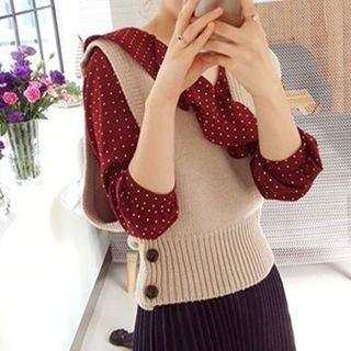 Sleeveless Wool Blend Knit Top 1063114917