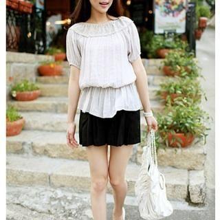 Buy cocostar Short-Sleeve Banded Waist Blouse 1022952470