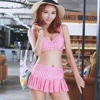 Set: Gingham Bikini Top + Swimskirt 1596