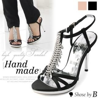 Buy Shoes by B Rhinestone Accent Strap Sandals 1022982382