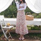 Sleeveless Tie-Back Floral Print Maxi Dress 1596