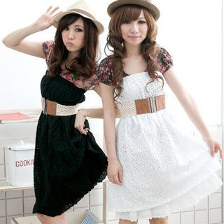 Picture of ZOO Strapless Eyelet Dress with Belt 1022855142 (ZOO Dresses, Womens Dresses, Taiwan Dresses)