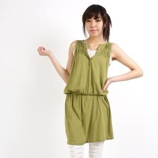 Buy Angel Mak's Sleeveless Shirred Dress 1022858322