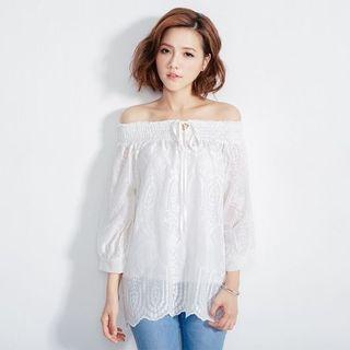 Off-Shoulder Lace Top 1053087753