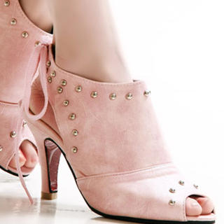 Picture of Kvoll Studded Peep-Toe Sandals 1022464074 (Sandals, Kvoll Shoes, China Shoes, Womens Shoes, Womens Sandals)