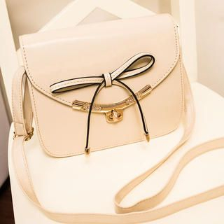 Metal-Trim Bow-Accent Cross Bag