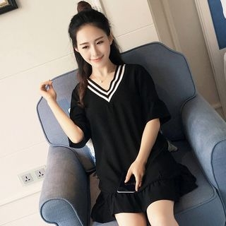 V-neck Short-Sleeve Dress 1061171010