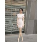 Short-Sleeve Lace Sheath Dress от YesStyle.com INT