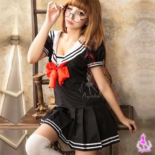 Student Party Costume Set Black & White & Red - One Size 1036067263