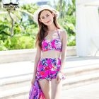 Set: Floral Bikini + Cover 1596