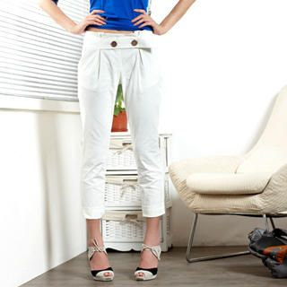 Picture of 19th Street Pleated Capri Pants 1021315406 (Womens Capri Pants, Womens Pleated Pants, 19th Street Pants, China Pants)