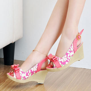 Buy KAWO Floral Slingback Wedges 1022901485