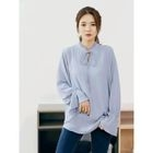 Frilled Tie-Neck Chiffon Top 1596