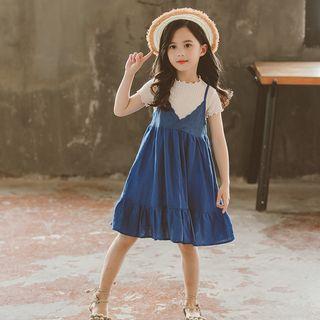 Short-sleeve | Spaghetti | T-Shirt | Strap | Dress | Lace | Kid