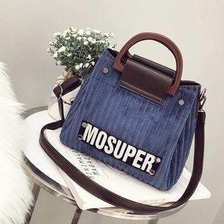 Applique Velvet Handbag with Pouch 1064423508