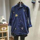 Star Printed Striped Shirt 1596
