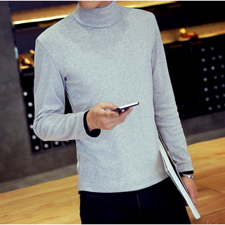 Mock-neck Long-Sleeve T-shirt 1049751193