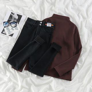 Lettering Print Skinny Jeans