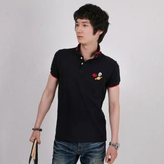 Buy ISNOM Embroidered Polo Shirt 1022883861
