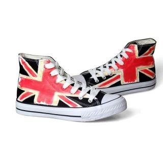 High-Top Printed Sneakers