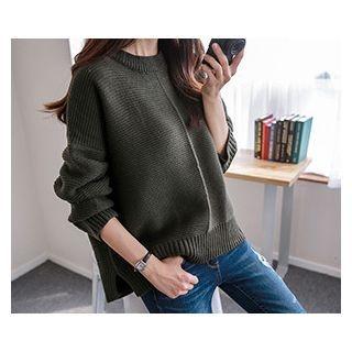 Drop-Shoulder Knit Top 1053312910