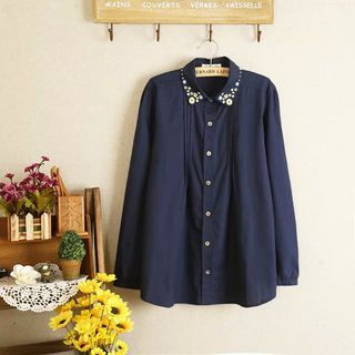 Aigan Long-Sleeve Embroidered Blouse