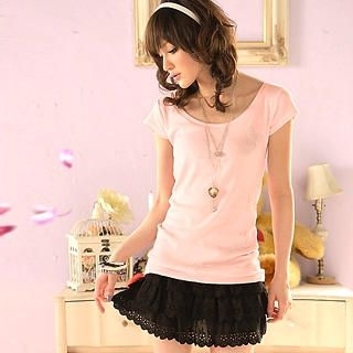 Buy Tokyo Fashion Elastic Waist Layered Miniskirt 1022550507