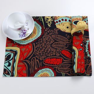 Printed Placemat / Napkin / Set: Placemat + Napkin + Napkin Ring
