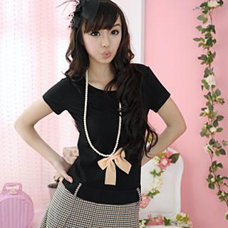 Buy 59 Seconds Mock Two-Piece Pleated Check Dress Black – One size 1022186773