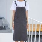 Plain Midi Pinafore Dress 1596