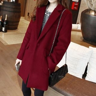 Notched Lapel Coat 1062067469