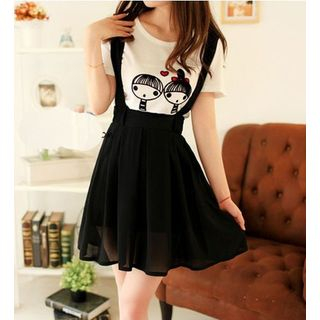 Image of Chiffon Jumper Skirt