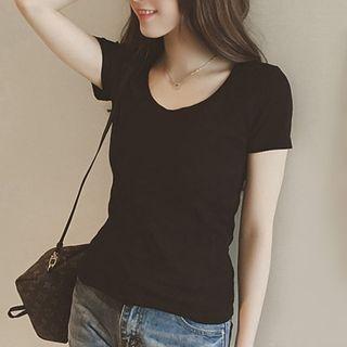 V-Neck Short-Sleeve T-Shirt 1063663883