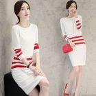 Set: Striped Sweater + Pencil Skirt 1596