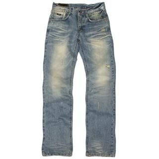 Picture of 3QR Washed Straight-Fit Jeans 1020235094 (3QR, Mens Denim, Korea)
