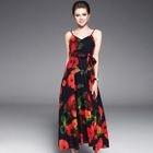 Sleeveless Printed Maxi Dress 1596