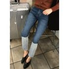 Color-Block Straight-Cut Jeans 1596