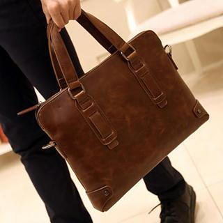 Faux Leather Briefcase 1038850996