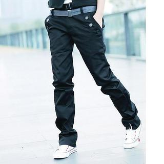 Straight Cut Pants with Belt 1036868018