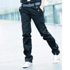 Straight Cut Pants with Belt 1596