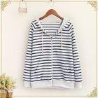 Striped Zip Hoodie 1596