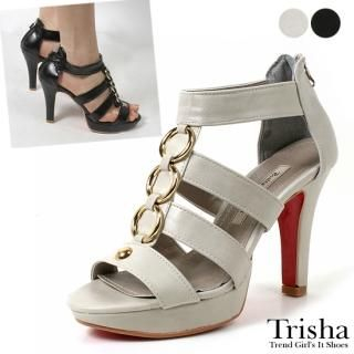 Buy Trisha Metallic Ring Platform Pumps 1022464684