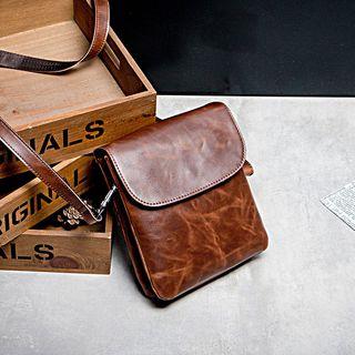 Flap Faux Leather Crossbody Bag