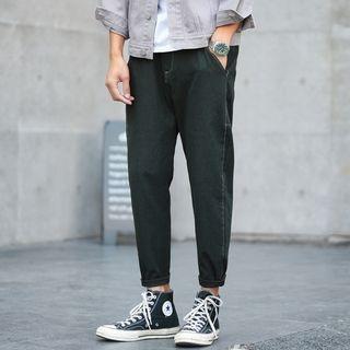 Plain Loose-Fit Pants