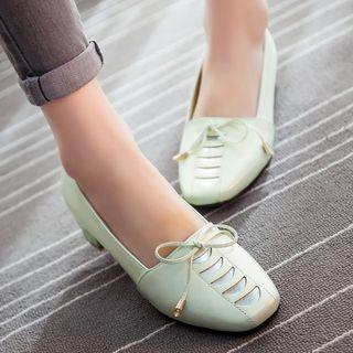 Image of Block-Heel Loafers