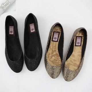 Picture of Mango Ribbon Metallic Flats 1022969371 (Flat Shoes, Mango Ribbon Shoes, Korea Shoes, Womens Shoes, Womens Flat Shoes)