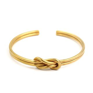 Image of Couple Matching Knot-Detail Open Bangle