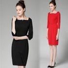 3/4-Sleeve Sheath Dress 1596