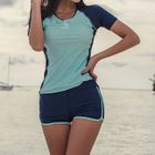 Set: Short-Sleeve Swim Top + Swim Shorts 1596